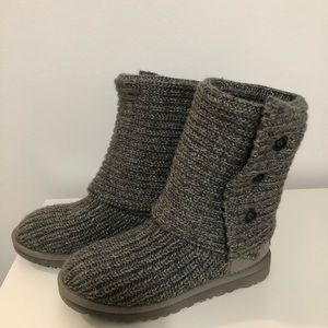 UGG 3 Button Cardi Knit Boots